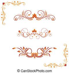 Different autumn design elements