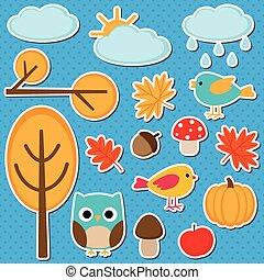 Different autumn elements