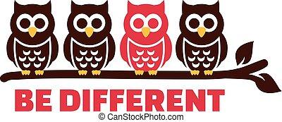 """different"""", """"be, zweig, eulen"""