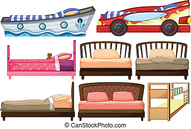 Different bed designs - Illustration of the different bed...