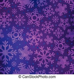 Different blue snowflakes set. Abstract seamless background