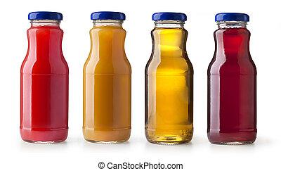 bottles of juice