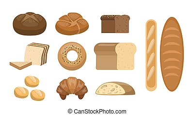 Different bread set.