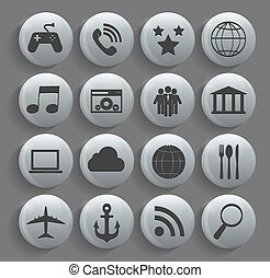 Different Business, Finance and Communication Icons Vector Illus