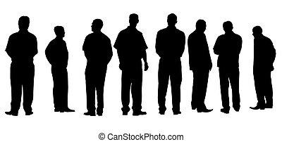 different businessmen with clipping path