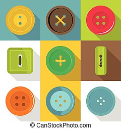 Different button icons set, flat style