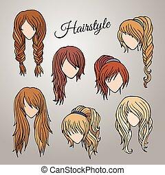 different cartoon hairstyles