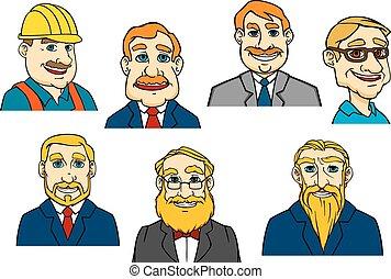 Different cartoon men