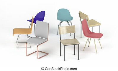 Different chairs - Spinning chairs with different designs ...