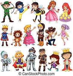 Different characters from fairytales