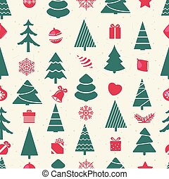 Different christmas elements vector seamless pattern