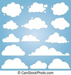 different cloud vector set