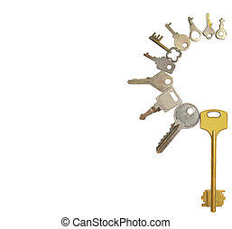 collection of keys isolat