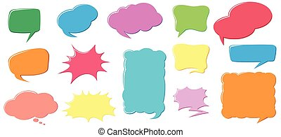 Different color and design of speech bubbles