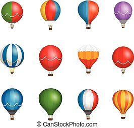 Different color baloons vector clipart