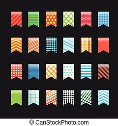 Different color flags collection