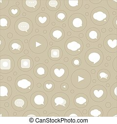 Different color simple communication seamless pattern