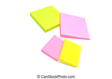 different color sticky notes