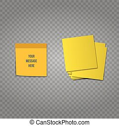 Different colored sheets of note papers