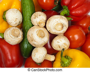 different colorful fresh vegetables background