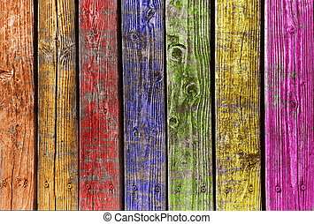 different colorful wood