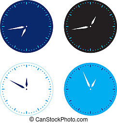 Different colors clock set