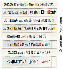 vector letters from newspaper - Different colors vector...