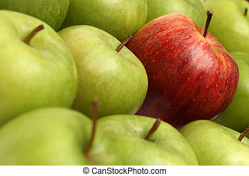 different concepts with apples - different concepts - red...