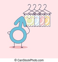different condom packages cartoon, great for health care...