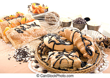 Different confectionery   - Photo of sweets, batch and nuts