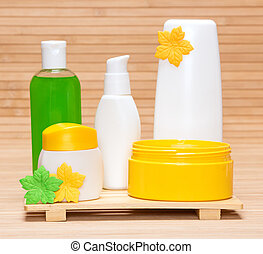 Different cosmetic products for body care