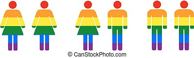 Different couples (lesbian, heterosexual, gay) - isolated ...