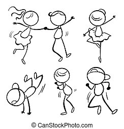 Different dance moves - Illustration of the different dance...