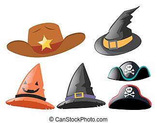 Different design of hats