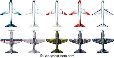 Different design of jet plane