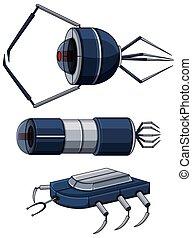 Different design of nanobots illustration