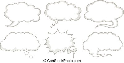 Different design of speech bubbles