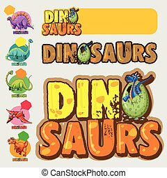 Different designs with many dinosaurs
