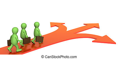 Different direction - Concept - different direction in ...