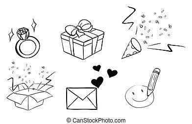 Different doodle designs