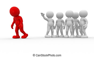 Different - 3d people - human character , person....