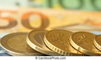 Different Euro coins - Different euro coins on a background ...