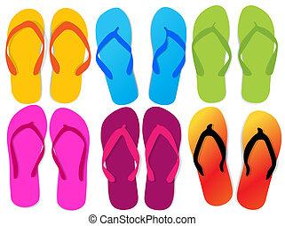 Different flip flops - Flip flops for woman