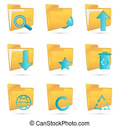 different folders icon