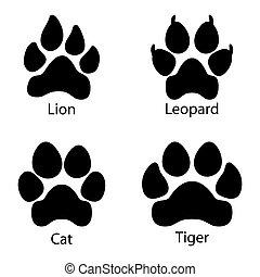 Different footprints set