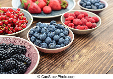 Different fresh summer berries