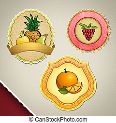 Different fruit labels