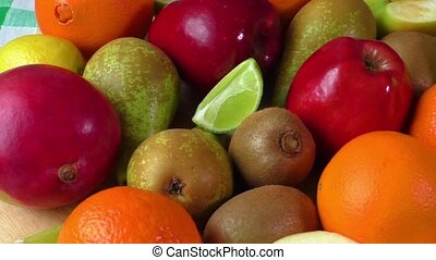 Different fruits close-up