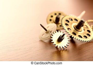 Different gears on the table