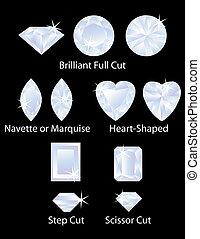 Different Gem Cuts Set 3